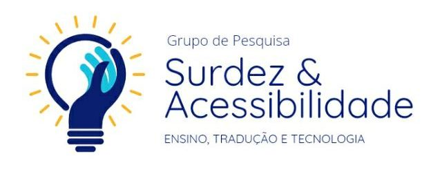 Logo do Grupo de Pesquisa Surdez & Acessibilidade: ensino, tradução e tecnologia